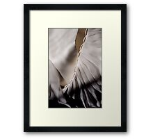 Its in the detail - back of my wedding dress Framed Print