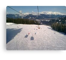 Ski Slopes Canvas Print