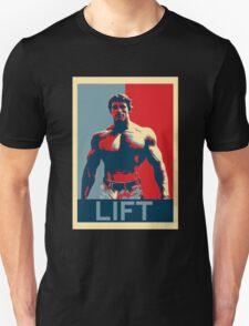 Arnold Lift Poster (Obama hope parody) Unisex T-Shirt