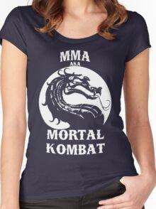 MMA aka Mortal kombat Women's Fitted Scoop T-Shirt