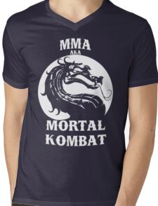 MMA aka Mortal kombat Mens V-Neck T-Shirt