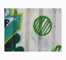 Green Ball Graffiti - by Ana Canas Kids Tee