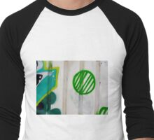 Green Ball Graffiti - by Ana Canas Men's Baseball ¾ T-Shirt
