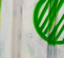 Green Ball Graffiti - by Ana Canas Sticker