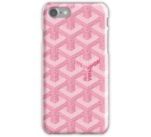 GOYARD PINK iPhone Case/Skin