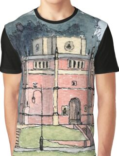 Red Mount Chapel Kings Lynn - From Original Watercolour Graphic T-Shirt