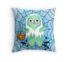 Alpaca Halloween ghost trick or treat Throw Pillow