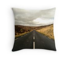 Empty Road Donegal Throw Pillow