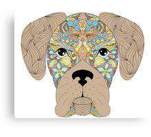 head of dog  Canvas Print