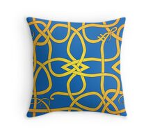 Viking Knot Over Blue Throw Pillow