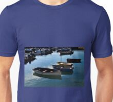 Small Boats in Lyme Harbour Dorset UK Unisex T-Shirt
