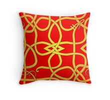 Viking Knot Over Red Throw Pillow