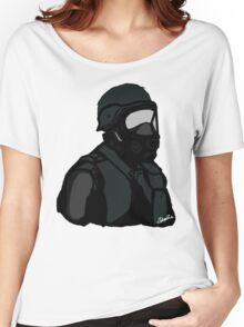 Swat Gasmasked Drawing ZEBODIA Women's Relaxed Fit T-Shirt