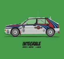 Lancia Delta HF Integrale Evoluzione Group A Martini Racing Kids Tee