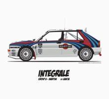Lancia Delta HF Integrale Evoluzione Group A Martini Racing One Piece - Short Sleeve