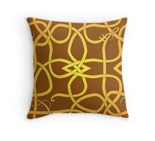 Viking Knot Over Brown Throw Pillow