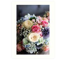 Wedding Bouquet. Art Print