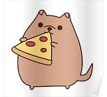 Pupsheen Eating Pizza Poster