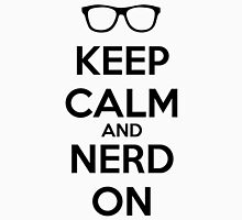 Keep Calm Nerd On Black Unisex T-Shirt