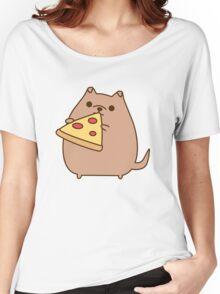 Pupsheen Eating Pizza Women's Relaxed Fit T-Shirt