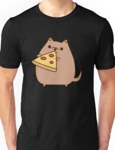 Pupsheen Eating Pizza Unisex T-Shirt