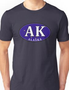 ALASKA STATE FLAG EURO OVAL ANCHORAGE FAIRBANKS JUNEAU NOME Unisex T-Shirt