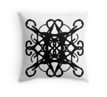 Black Pattern - 4 Throw Pillow