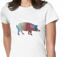 Pig / Wild boar silhouette Womens Fitted T-Shirt