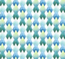 Pattern with hand painted watercolor rhombus Sticker