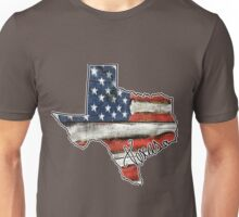 Texas State Outline Flag USA Unisex T-Shirt