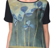 Blue Flowers Chiffon Top