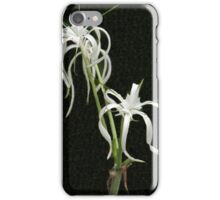 White Orchid Fingers iPhone Case/Skin