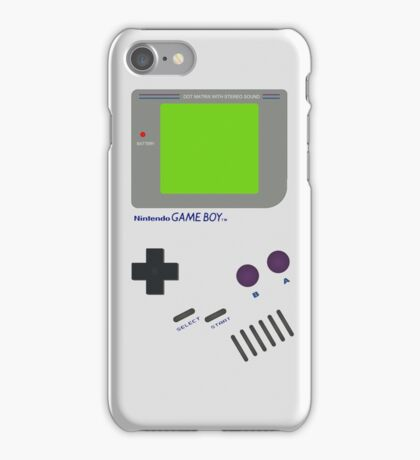 Oldschool Gameboy Shirt iPhone Case/Skin