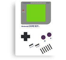 Oldschool Gameboy Shirt Canvas Print