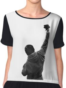 Never give UP! Rocky Balboa Chiffon Top