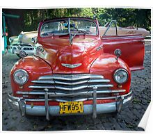 American car from the 50's in Havana, Cuba Poster