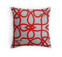 Red Viking Knot Over Gray Throw Pillow