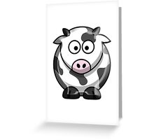 COW, Cartoon, Cattle Greeting Card