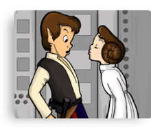 To Give A Scoundrel A Kiss Canvas Print