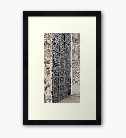 Ancient reliable gate Framed Print