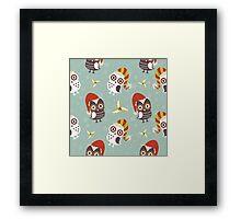 Winter Owls Framed Print