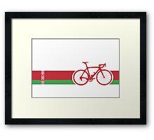 Bike Stripes Belarus Framed Print