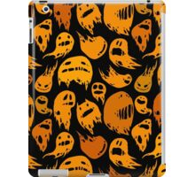 Black and orange ghosts pattern iPad Case/Skin