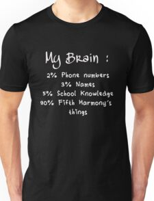 90% OF MY BRAIN IS FIFTH HARMONY'S THINGS Unisex T-Shirt