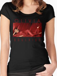 Olivia Newton-John - 1980s -Soul Kiss Women's Fitted Scoop T-Shirt