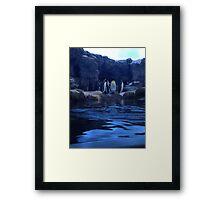 Penguin Plunge Framed Print