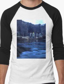 Penguin Plunge Men's Baseball ¾ T-Shirt