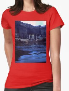 Penguin Plunge Womens Fitted T-Shirt