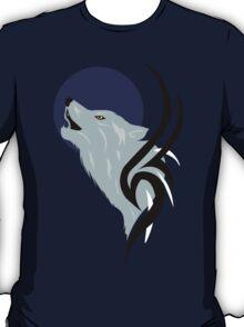 Howling Wolf Vector T-Shirt
