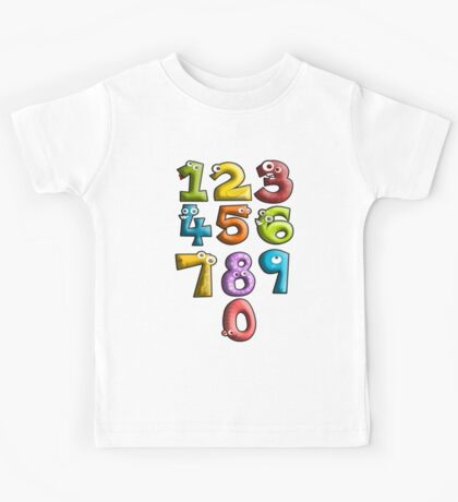 LEARN, NUMBERS, teach, Counting, Count, Cartoon, Learning to count Kids Tee